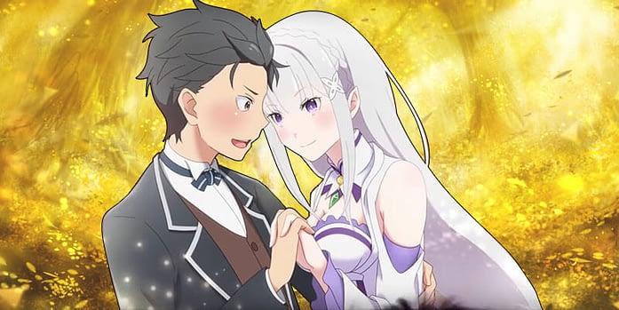 subaru and emilia re zero anime