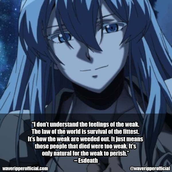 Esdeath Quotes Akame Ga Kill