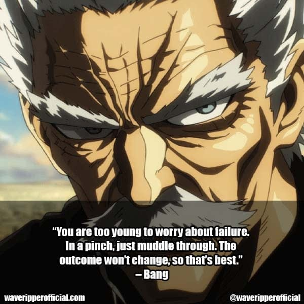 Anime Bang Quotes in One Punch Man