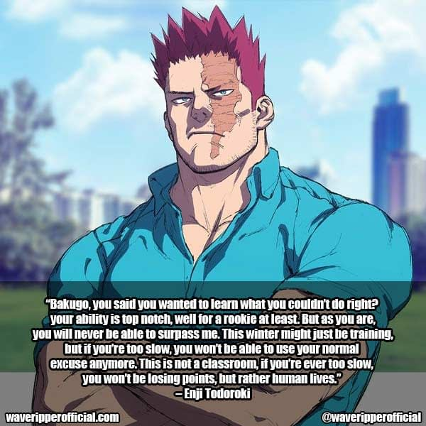 Enji Todoroki Quotes MHA