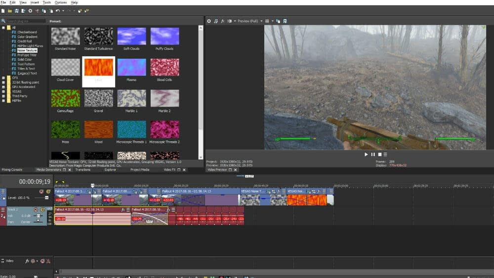 Image of Merging Clips into One with Vegas Pro