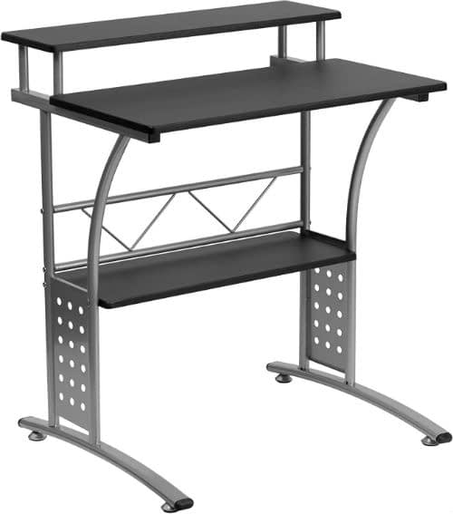 Computer Desk With Shelve Above