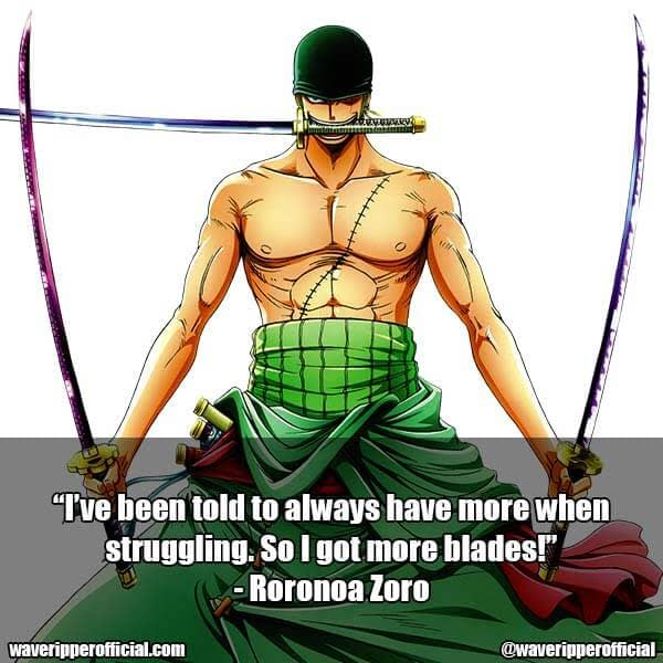 Roronoa Zoro quotes 1