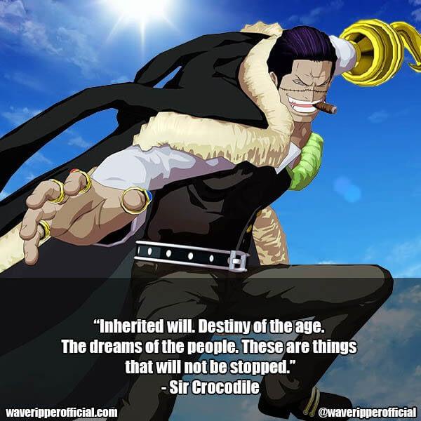 Sir Crocodile quotes