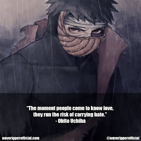 obito uchiha quotes