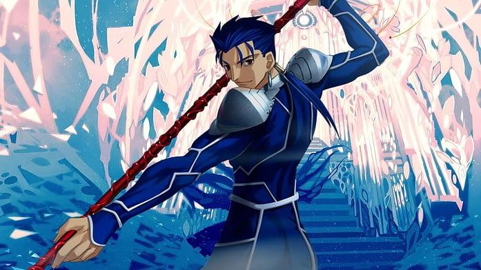 Blue hair anime boys in Fate Series