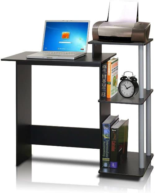 Black and Grey Compact Computer Desk