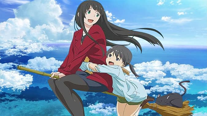 flying witch makoto kowata and chito
