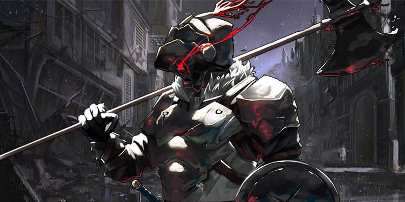 Goblin slayer with his armor