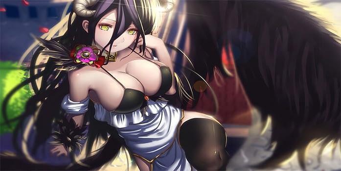 Albedo overlord cute anime girl