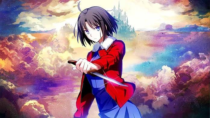 Shiki Ryougi - skilled anime girls in Garden of Sinners