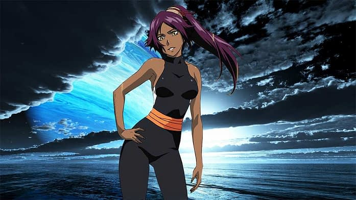 Cat Lady Yoruichi with Purple hair color