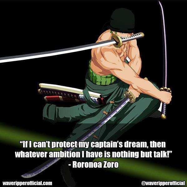 Roronoa Zoro quotes 4