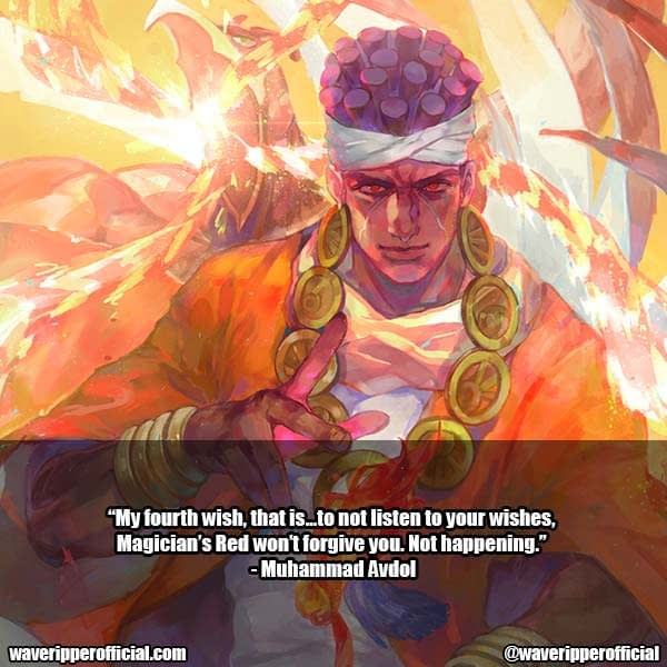 Muhammad Avdol quotes