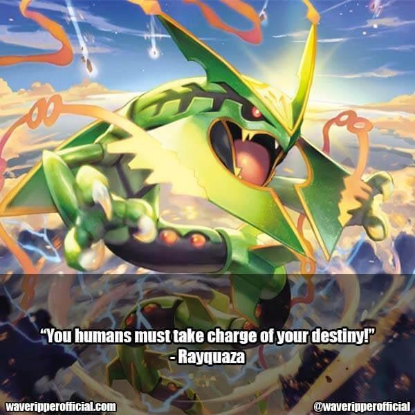Rayquaza quotes pokémon