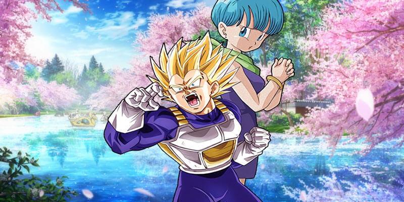 Vegeta and Bulma anime couple