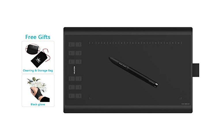 HUION New 1060 Plus Graphic Drawing Tablet with 8192 Pen Pressure